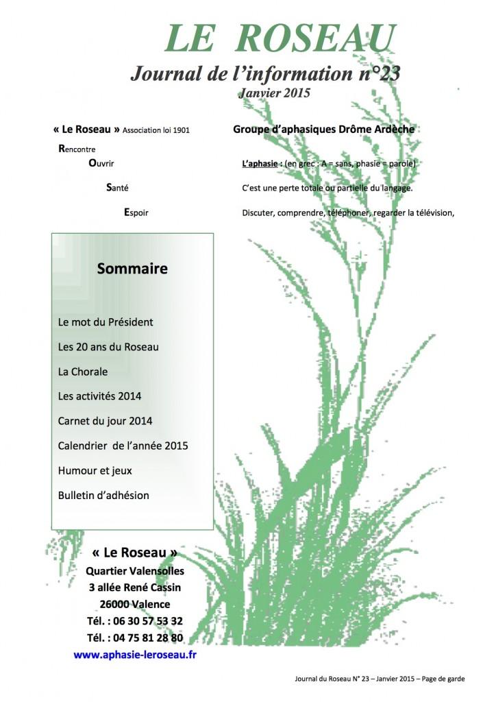 journal du roseau janvier 2015