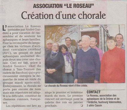 Le Roseau a mis en place une chorale pour aider les aphasiques à retrouver le langage