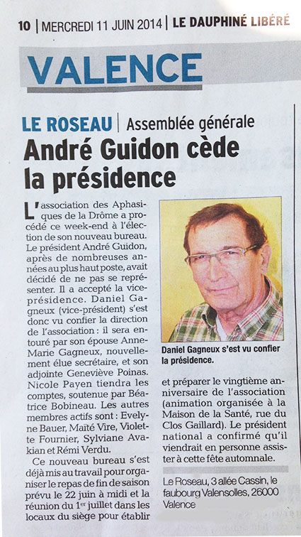 Daniel Gagneux devient président du roseau