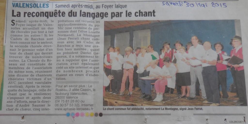 Article paru dans le Journal Le Dauphiné Libéré