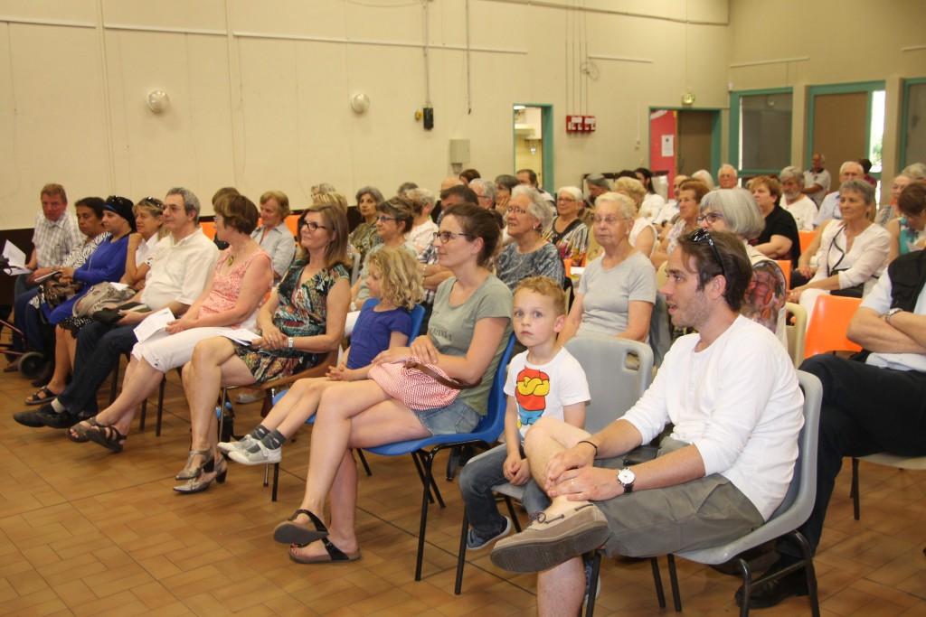 le public était venu nombreux pour les applaudir au Foyer Laïque de Valensolles