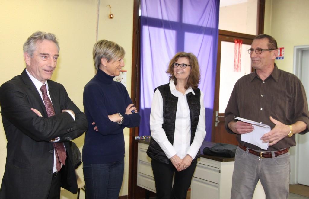 Patrick Labaune, Véronique Pujeat et Lorette Normant était présent aux côtés de Daniel Gagneux