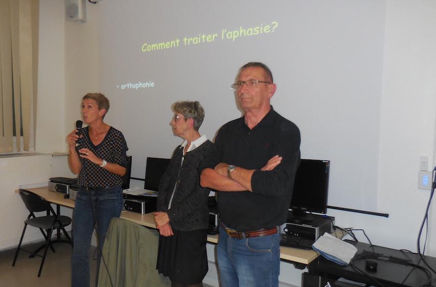 A l'occasion de la semaine de l'aphasie, le roseau a organisé une soirée projection film, débat conférence à Valence