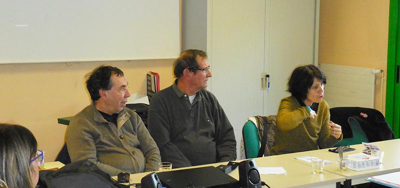 Patricia, Philippe et Daniel sont allés à la rencontre des élèves aides soignants à Tournon
