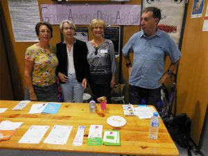 Le 9 septembre, Le Roseau était présent au forum des associations de Valence
